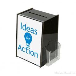 Arvontalaatikko Idea Box - edustava palautelaatikko